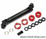 Boom Racing BADASS™ Heavy Duty Steel Center Drive Shaft 101-131mm (Pin to Pin) 1Pc [Recon G6 Certified]